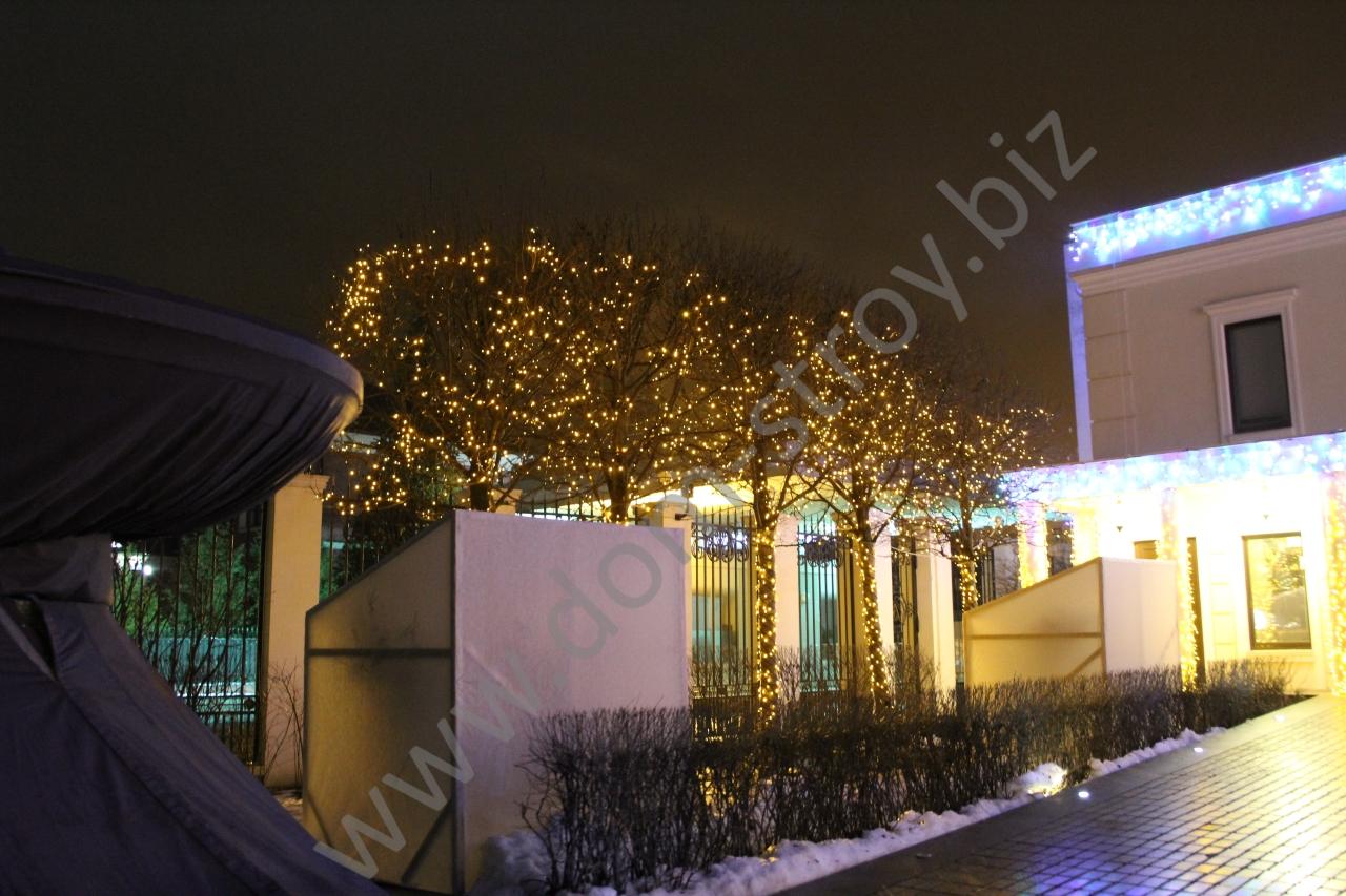 Подсветка деревьев клиплайтом
